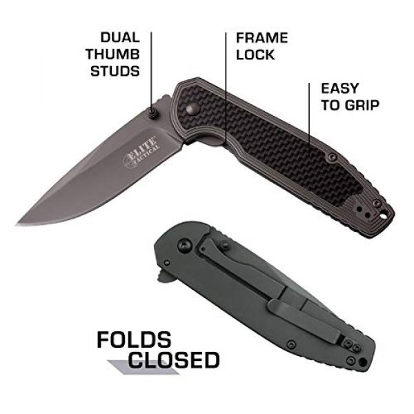 Elite Tactical Folding Survival Knife 5 Elite Tactical Folding Pocket Knife - ET-1007
