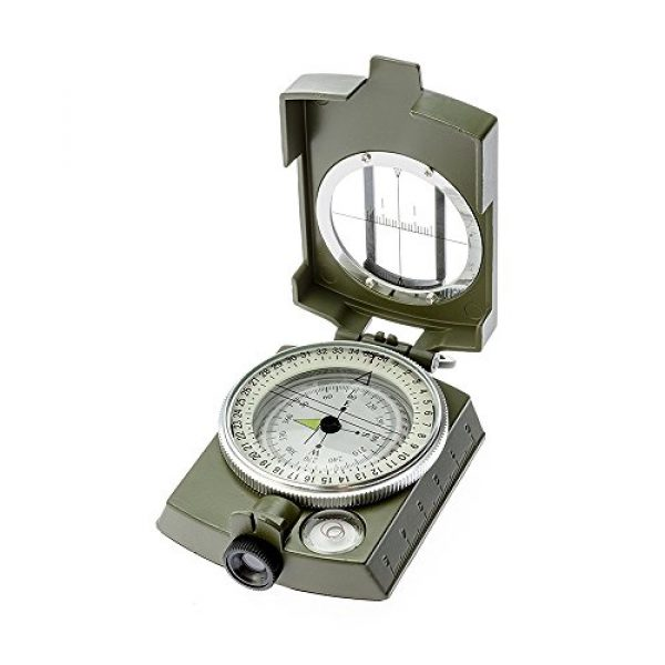 Banne Survival Compass 2 Banne Compass, Waterproof Military Compass,Camping Compass Fluorescent Pointer Compass(Army Green)
