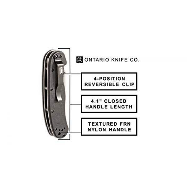 Ontario Knife Company Folding Survival Knife 4 Ontario Knife OKC Rat Ii Sp-Black Folding Knife, 7Inches