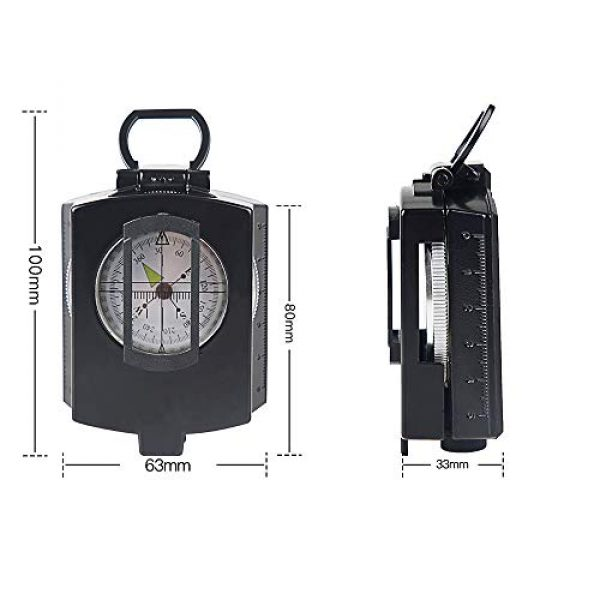 COSTIN Survival Compass 2 COSTIN Multifunctional Compass, Metal Military Waterproof High Accuracy Compass with Map Measurer, Distance Calculator,Bubble Level Perfect for Outdoor Activities, Matte Black