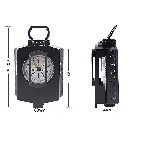 Metal Military Waterproof High Accuracy Compass with Map Measurer