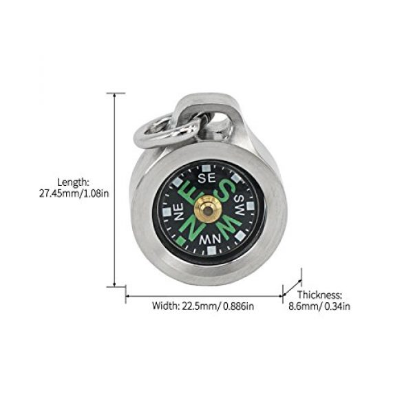 MecArmy Survival Compass 4 MecArmy CMP Titanium/Brass EDC Compass, Teardrop Shaped Design with Exquisite engrave, Fluorescence Glow in The Dark Max runtime of 6 Hours IPX5 Waterproof Free Beaded Chain Worn as Pendant