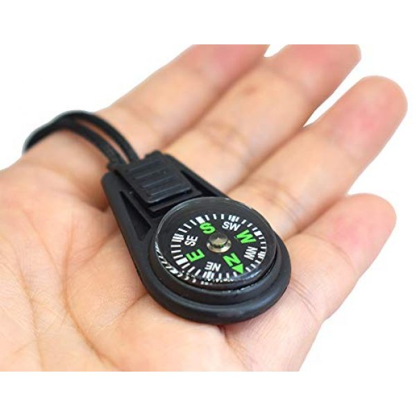 Bytiyar Survival Compass 5 Bytiyar 20 pcs Small Plastic Liquid Filled Compass Keychain Lanyard Hook Survival Kit for Backpack