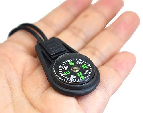 Bytiyar  5 Bytiyar 20 pcs Small Plastic Liquid Filled Compass Keychain Lanyard Hook Survival Kit for Backpack