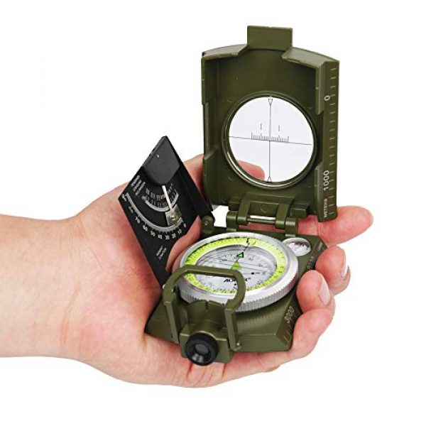 AOFAR Survival Compass 3 AOFAR AF-4074 Military Camo Compass for Hiking,Lensatic Sighting Waterproof,Durable,Inclinometer for Camping,Boy Scount,Geology Activities Boating
