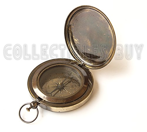 collectiblesBuy  3 Collectibles Buy Nautical Ross London Brass Round Pocket Compass Marine Navigational Royal Device Gift Item