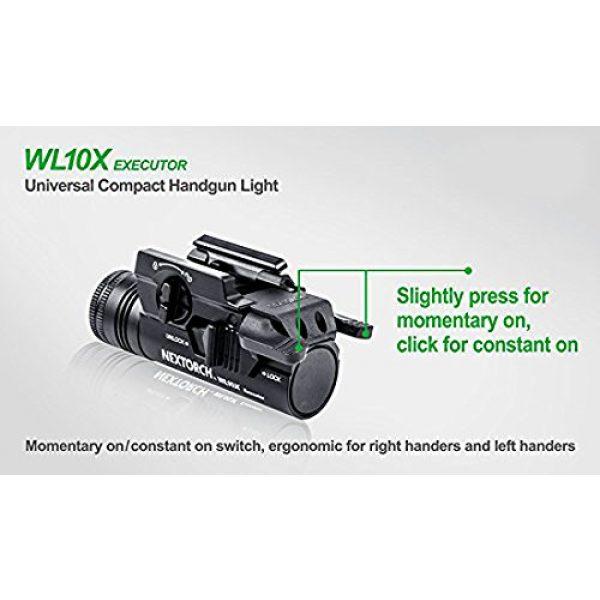 NEXTORCH Survival Flashlight 5 NEXTORCH 230 Lumen WL10X Executor Ultra Bright Lightweight LED Weapon Light, Attach Mount Upgraded