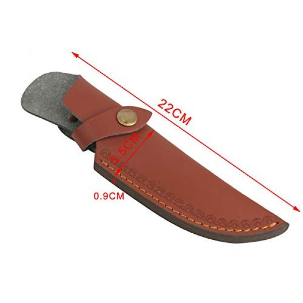 """TOURBON Fixed Blade Survival Knife 6 TOURBON 8"""" Fixed Blade Knife Sheath Belt Loop Case Hunting Holster Carrying Knives Leather Scabbard Pouch Bag"""
