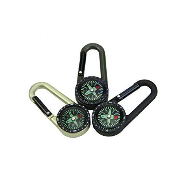 Snowmanna Survival Compass 6 Snowmanna-1Pc Mini Aluminum Compass Carabiner Key Chain Hook Outdoor Hiking Camping Survival Tool