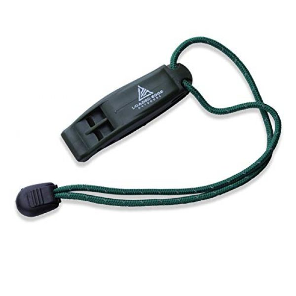 Loaded Edge Survival Whistle 2 Safety Survival Whistle Emergency Running Whistles with Lanyard (2 Pack) Green/Yellow - Extra Loud - Perfect for Hiking, Boating, Camping, Hunting, Biking & More U.S. Veteran Owned Company