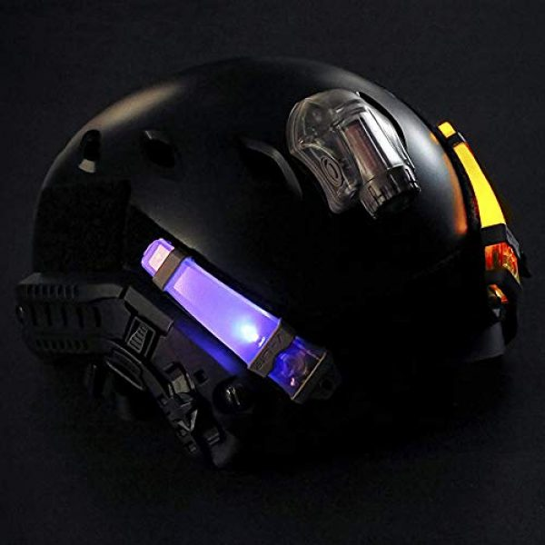 CyberDyer Survival Flashlight 2 CyberDyer Personal Identification Marker Light Tactical FMA Helmet Safety Flashing Light Survival Signal Light for Hunting Hiking Cycling