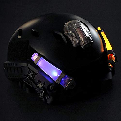 CyberDyer  2 CyberDyer Personal Identification Marker Light Tactical FMA Helmet Safety Flashing Light Survival Signal Light for Hunting Hiking Cycling