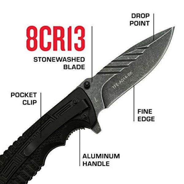 Tac Force Evolution Folding Survival Knife 3 Tac Force Evolution Spring Assisted Knife - TFE-A014-BK
