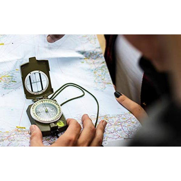 Eyeskey Survival Compass 7 Eyeskey Multifunctional Military Lensatic Tactical Compass | Impact Resistant and Waterproof |Metal Sighting Navigation Compasses for Hiking, Camping, Motoring, Boating, Boy Scout