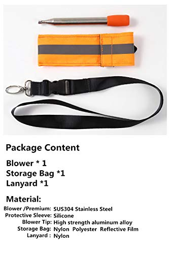 Kasego Survival Fire Starter 7 Kasego Retractable with Blowing Mouth Sheath, 31.50 inch Total Length, Fire Tube, Reflective Belt, Lanyard Storage Bag, Fire Tube