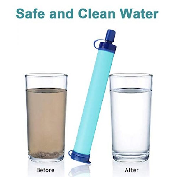 Deacroy Survival Water Filter 3 Deacroy Water Filter,Travel Personal Water Filtration,Portable Emergency Water Purifier, Survival Gear for Drinking Camping Hiking and Climbing