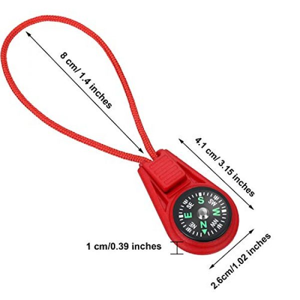 BBTO Survival Compass 2 BBTO 18 Pieces Multi-Color Mini Survival Compass Outdoor Camping Hiking Pocket Compass Liquid Filled Mini Compass on Cord for Emergency Survival Kits Watchband Paracord Bracelet Necklace Key Chain