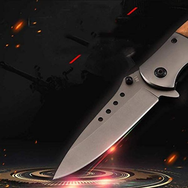 Deceny CB Folding Survival Knife 3 Deceny CB Folding Knife Pocket Knife Outdoor Survival Knife Rescue Knife Tactical Folding Knife with Sheath for Camping Hunting Survival and Outdoor