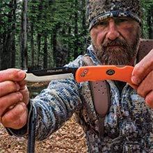 Outdoor Edge  4 Outdoor Edge RazorLite Replaceable Blade Folding Hunting Knife with Nylon Sheath