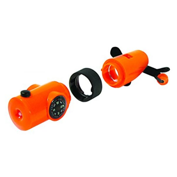 SE Survival Whistle 7 SE 7-IN-1 Survival Whistle in High-Visibility Orange - CCH7-1OR