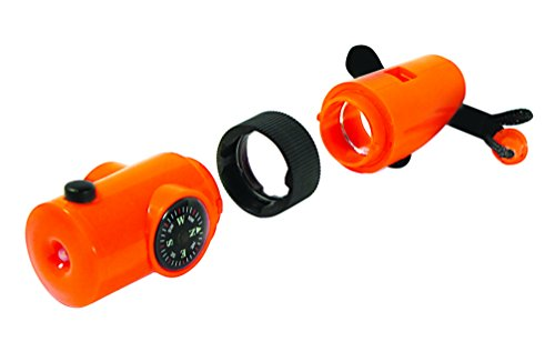 SE  7 SE 7-IN-1 Survival Whistle in High-Visibility Orange - CCH7-1OR