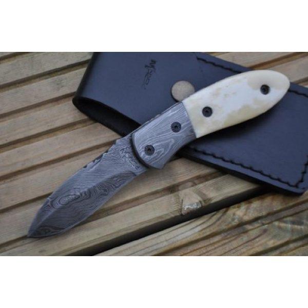 Perkin Folding Survival Knife 2 Perkin Knives - Handmade Damascus Pocket Knife - Beautiful Folding Knife