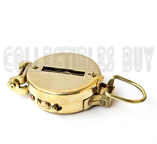 collectiblesBuy  4 collectiblesBuy Vintage Old Style Military Compass Nautical Pocket Shiny Brass Navigational Instrument