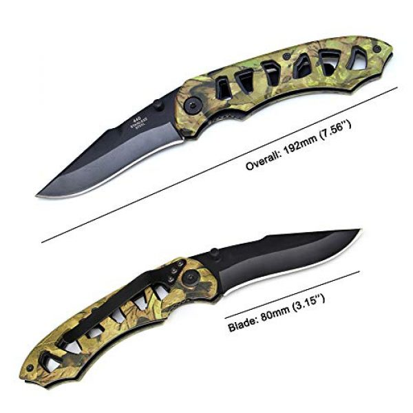 BaiYing Folding Survival Knife 3 BaiYing Folding Pocket Knife, Camo Camouflage Good Survival Knife for Camping and Outdoor Activities, High Hardness Camping Hunting Knife for Hunting, Travels, Fishing