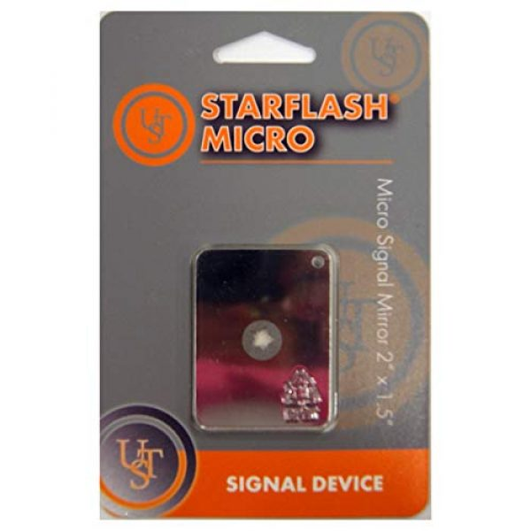 """Ultimate Survival Technologies Survival Signal Mirror 5 Ultimate Survival Technologies StarFlash Micro Signal Mirror 2""""x1.5"""" (3-Pack)"""