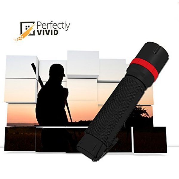 Perfectly Vivid Survival Flashlight 6 Perfectly Vivid Bright LED Tactical Flashlight With Focusing Lens Best High Lumen Output Waterproof Multiple Memory Mode, Aircraft Grade Aluminum Built To Last 100,000+ Hours! 100% Satisfaction Guaranteed