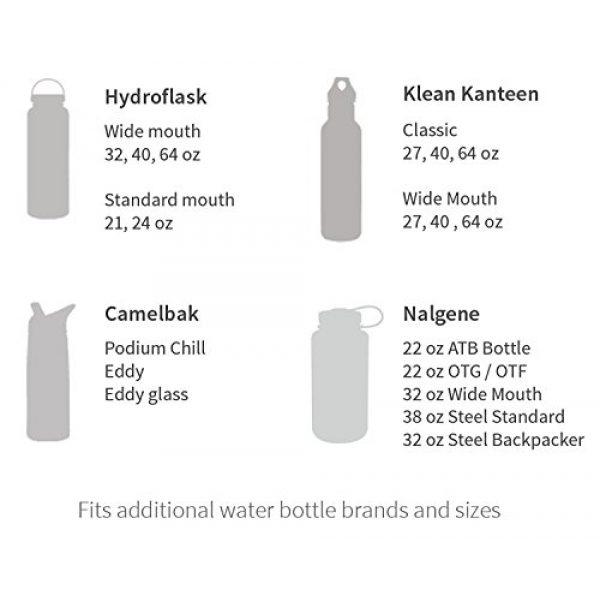 LifeStraw Survival Water Filter 5 LifeStraw Universal Water Filter Bottle Adapter Kit Fits Select Bottles from Hydroflask, Camelbak, Kleen Kanteen, Nalgene and More