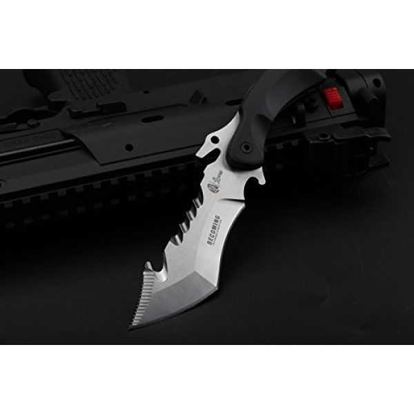 DELLE Fixed Blade Survival Knife 3 DELLE (Becoming) Wilderness Survival Knife with self-Defense Outdoor high Hardness Characteristic Small Straight Cutting Tool Field Tactical Knife