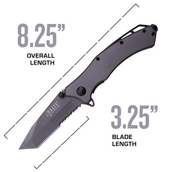 Elite Tactical Folding Survival Knife 4 Elite Tactical Spring Assisted Knife - ET-A1020TS-SO
