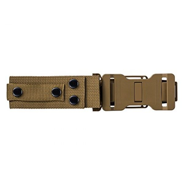 Gerber Gear Fixed Blade Survival Knife 5 Gerber StrongArm Fixed Blade Knife with Serrated Edge - Coyote Brown