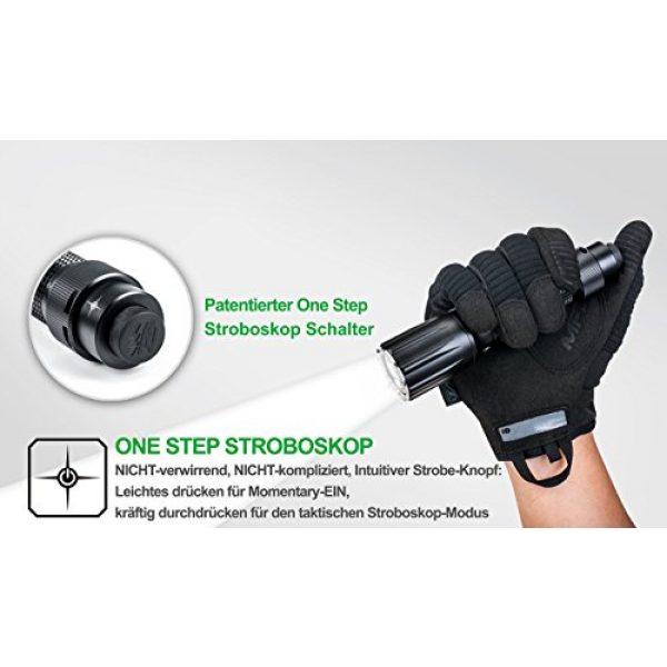 NEXTORCH Survival Flashlight 5 NEXTORCH TA5 Guardian 900 Lumen LED Duty Light, Safe Breaching with One Step Strobe Tail Cap Switch