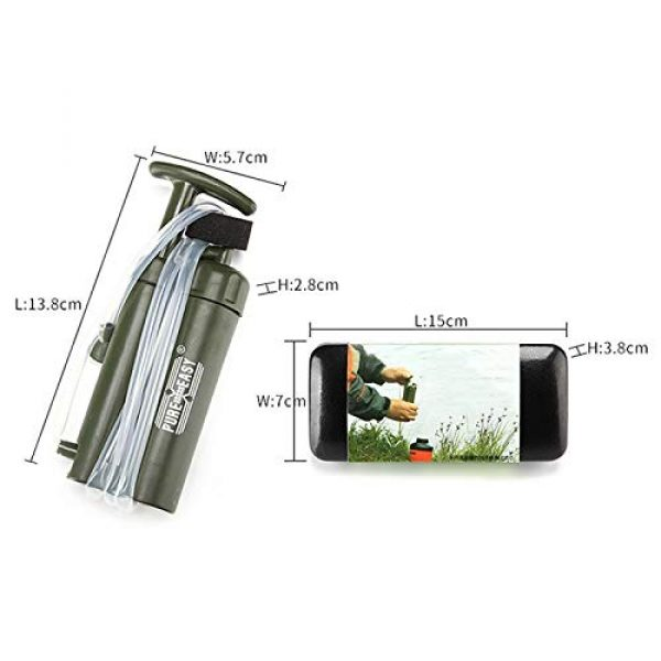 WMMDM Survival Water Filter 7 Water Filter, Dual Technology Microfilter for Personal or Small Group Camping, Backpacking or Emergency Preparedness
