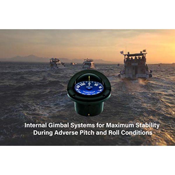 """Ritchie Navigation Survival Compass 4 Compass, Flush Mount, 4.5"""" Dial, Black"""