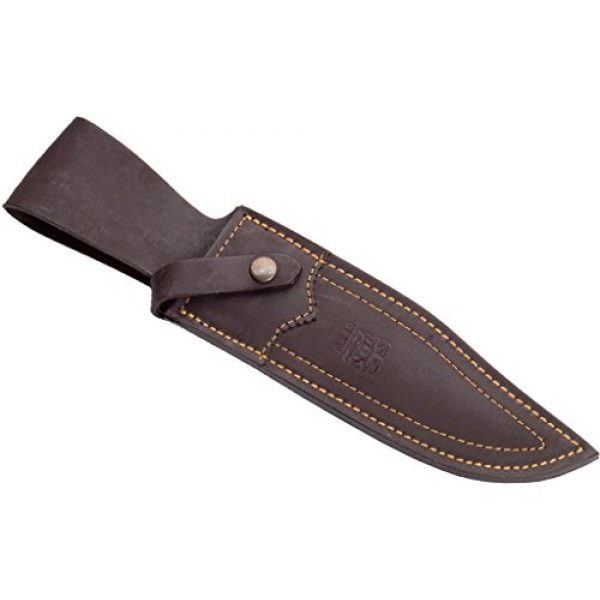 """Joker Fixed Blade Survival Knife 3 Joker Hunting Knife CC101 Bowie 25"""", Deer Horn Handle, 9.84 inches MOVA Steel Blade, Brown Leather Sheath, Tool for Fishing, Hunting, Camping and Hiking"""