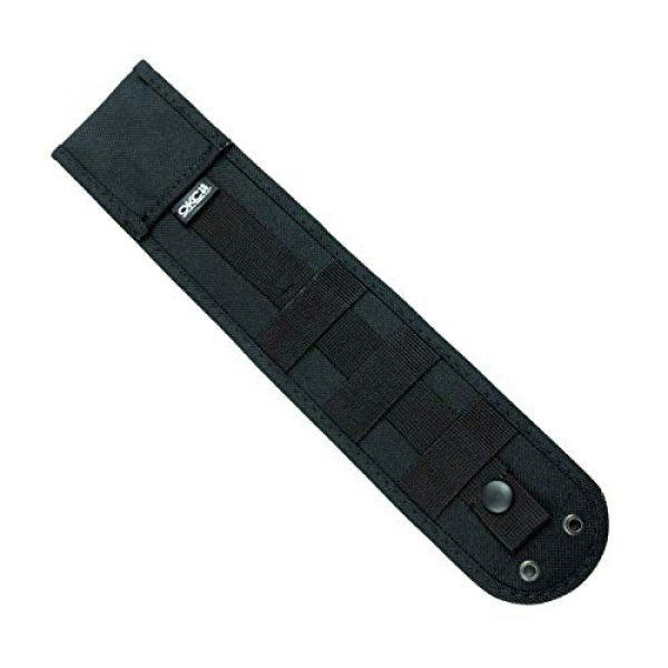 "Ontario Knife Company Fixed Blade Survival Knife 3 Ontario Knife Company 8674 Ranger, RAK Assault Knife 6"" Plain Blade, Black Micarta Handle"