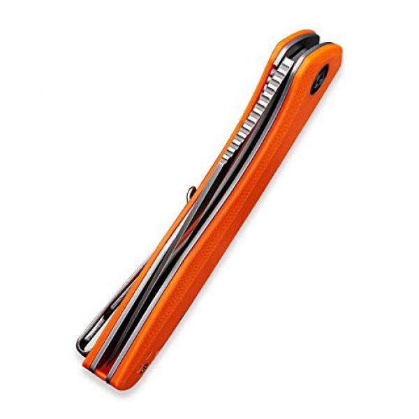 "Civivi Folding Survival Knife 5 Civivi Liner Lock Folding Knife Baklash 3.5"" Drop Point Blade G10 Handles, Reversible Pocket Clip C801"