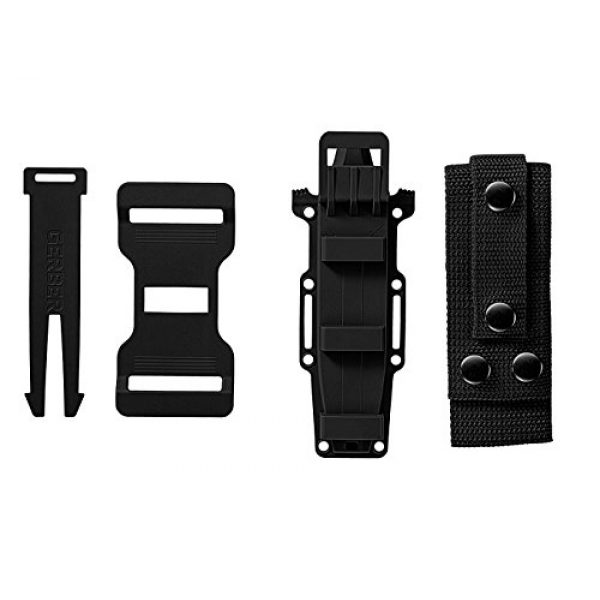 Gerber Gear Fixed Blade Survival Knife 6 Gerber StrongArm Fixed Blade Knife with Serrated Edge - Black