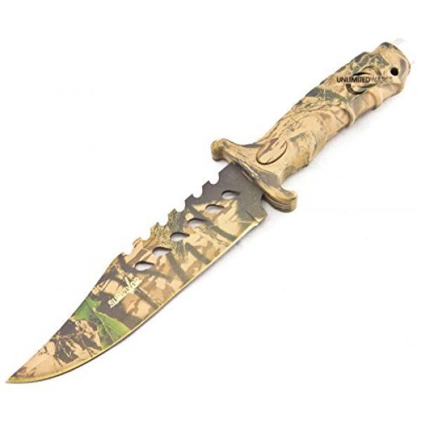 Master Cutlery Fixed Blade Survival Knife 2 Unlimited Wares HK-1037S Camo Outdoor Fixed Blade Knife 10.5-Inch Overall