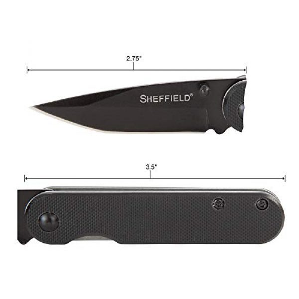 """Sheffield Folding Survival Knife 2 Sheffield 12163 Normandy Assisted Open Knife 