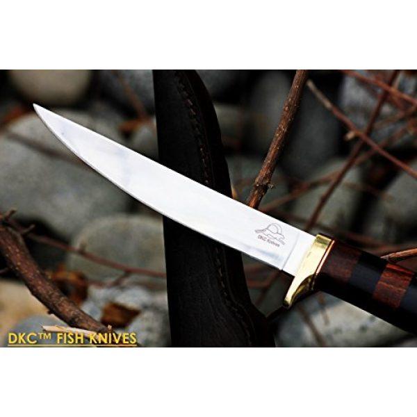 "DKC Knives Fixed Blade Survival Knife 2 (4 9/18) Sale DKC-610 Sale Black Doucette Fishing Filet Knife Mirror Finish Steel Blade Hunting Handmade Knife Fixed Blade 5.9 oz 11"" Long 6"" Blade"