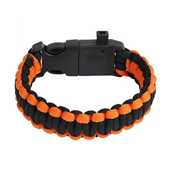WEREWOLVES Survival Paracord Bracelet 2 WEREWOLVES Survival Paracord Bracelets,Professional Personal EDC Tactical Bracelet,Multifunction Camping Hiking Gear with Compass, Fire Starter, Whistle and Emergency Knife