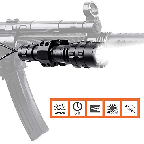 Rechargeable Flashlight Put on Rifle with Remote Pressure Switch
