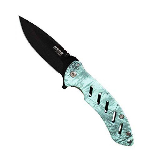 """Bear Edge Folding Survival Knife 2 Bear Edge 4 1/4"""" Predator Series Brisk 1.0 Frame Lock Folder Knife"""