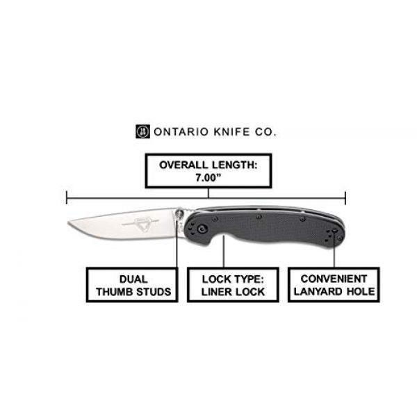 Ontario Knife Company Folding Survival Knife 5 Ontario Knife OKC Rat Ii Sp-Black Folding Knife, 7Inches