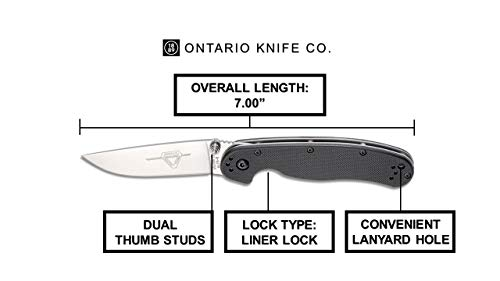 Ontario Knife Company  3 Ontario Knife OKC Rat Ii Sp-Black Folding Knife