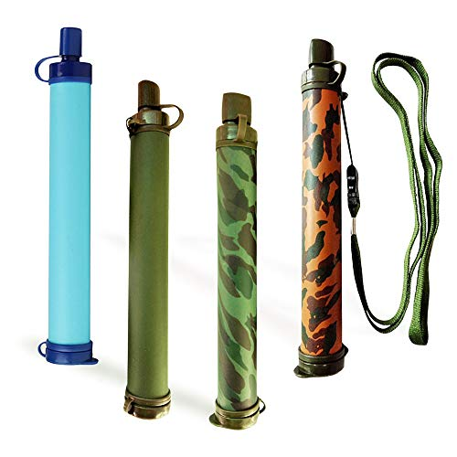 HEFUTE  5 HEFUTE Water Filter Straw Survival Filtration Portable Gear Emergency Preparedness Supply for for Drinking Hiking Camping Travel Hunting Fishing